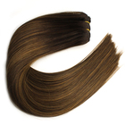 Wholesale Russian Hair Dark Brown Remy Micro Beads Weft Hair Extensions For Caucasian Market