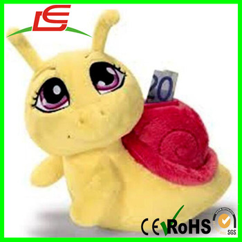 wholesale soft plush animal bank for kids money coins dollar