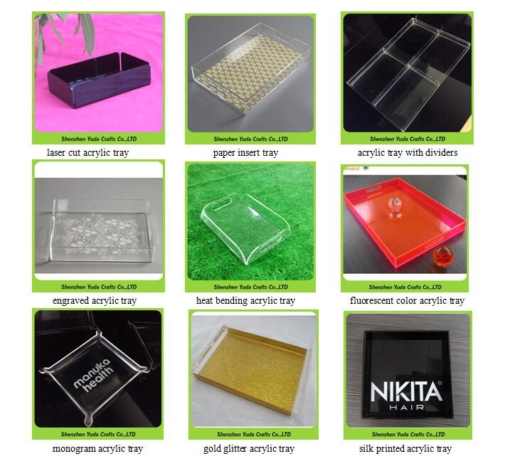 Fluorescent Acrylic Serving Tray Rectangular Neon Green Acrylic ...