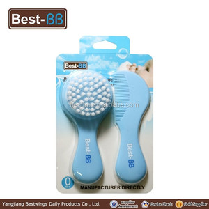 Manufacturer supply plastic baby mini round hair brush and children hair comb sets