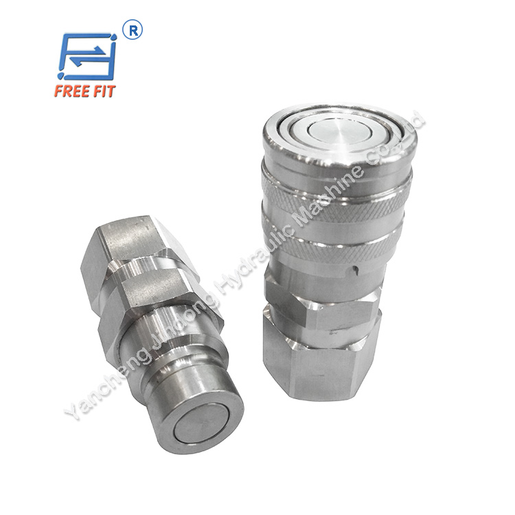 absorb noise steel flat face hydraulic quick couplings for iso 16028 interchange