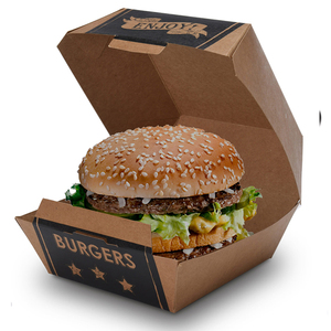 Custom Disposable Food Grade Cardboard Packaging Paper Burger Box