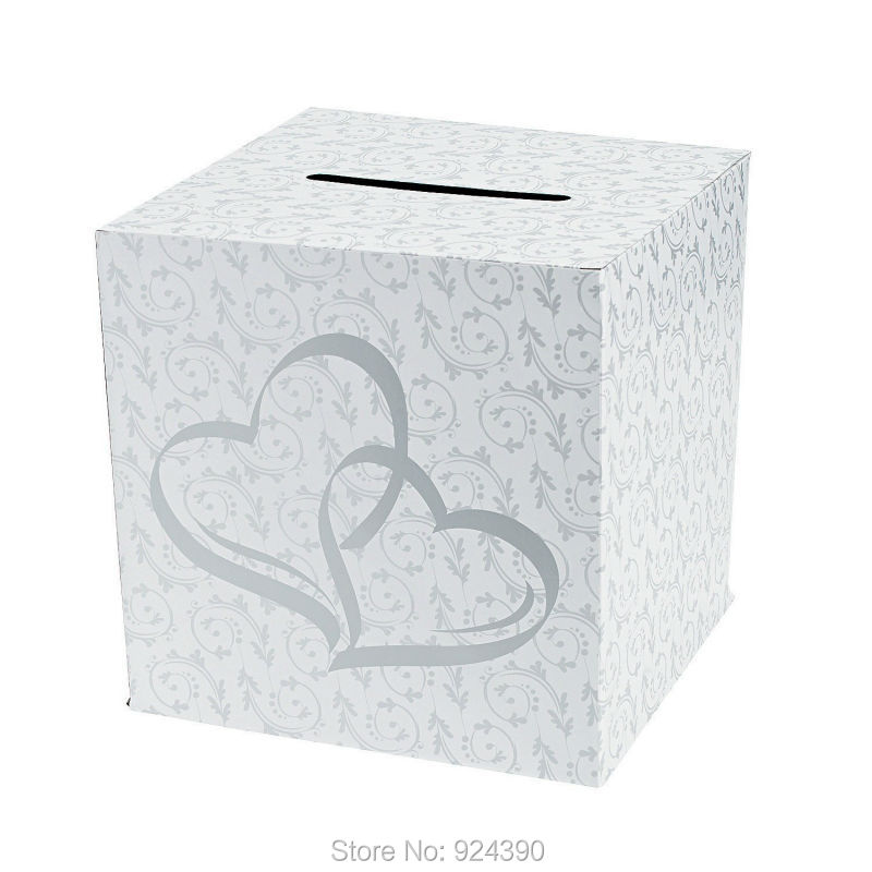 Elegantpark Ta028 Simple 2 Hearts Design Wedding Card Box For Collecting Cards Party Supplies In Price On M Alibaba