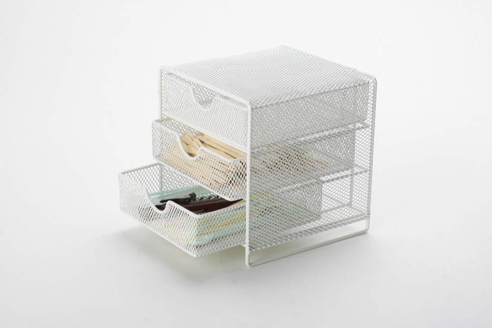 metal mesh small school stationery desk drawer organizer