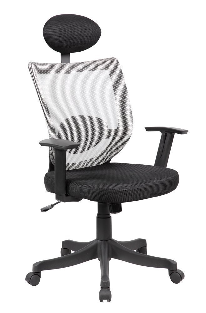 Anji Modern Furniture ANJI MODERN High Back Ergonomic Adjustable Mesh Computer Desk Office Chair with Headrest and Lumbar Support
