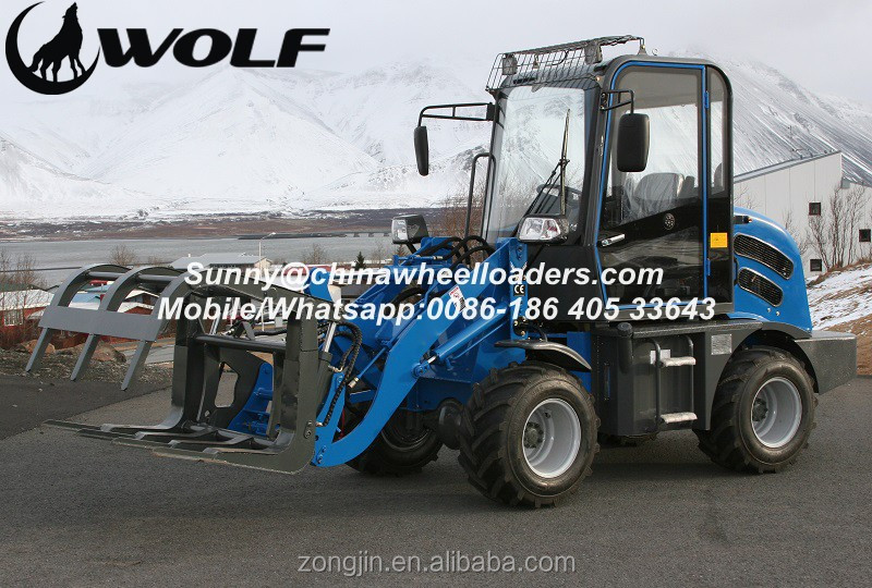 WOLF JN908 wheel loader for sale, mini compact loader, ZL08 radlader