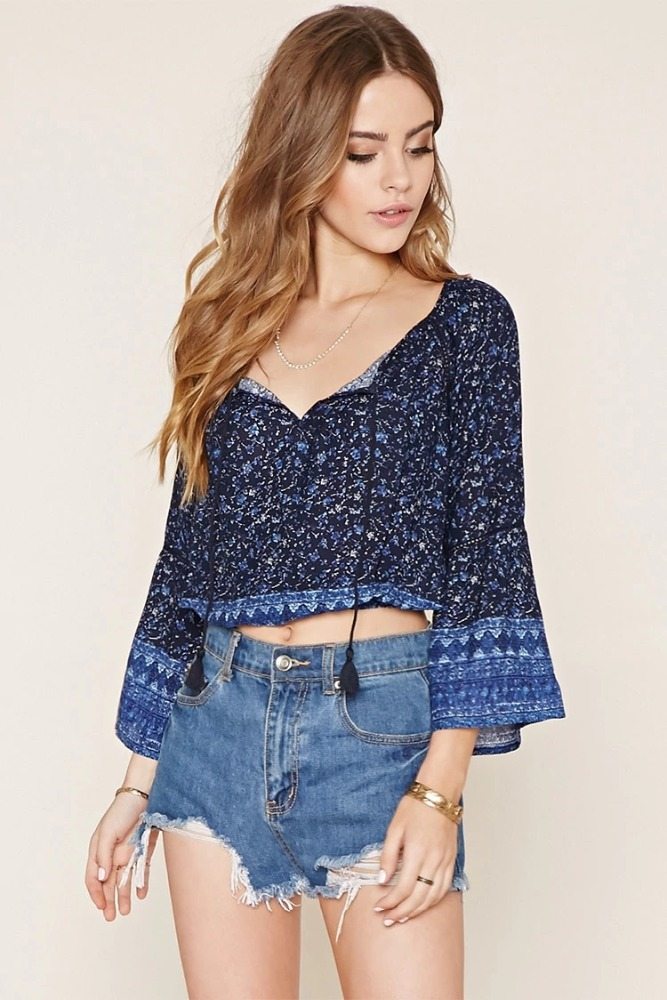 Factory New Latest Fashion Long Top Design Blouse Ladies Jeans Top ...