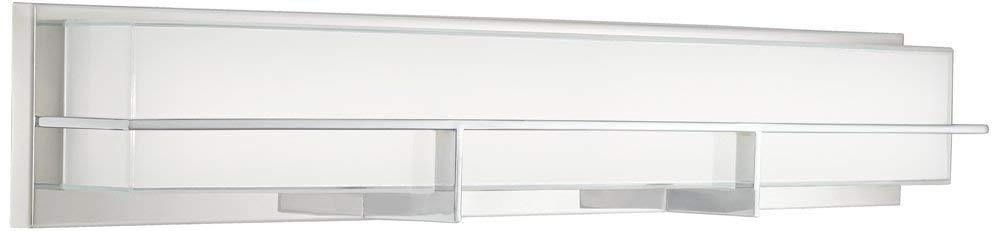 """Possini Euro Linx 33 1/2"""" Wide Chrome Linear LED Bath Light"""