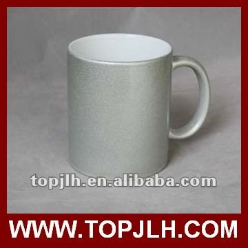 christmas gift11oz pearly-lustre Blank Coated Mug Gold silver color