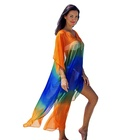 2019 new sexy chiffon loose Oversized beach dress long gown Cover Ups Robe Plage Beachwear