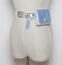 Mihaivina, модная пляжная поясная сумка, стразы, сумка на талию, Женский мини кошелек, прозрачная водонепроницаемая сумка на пояс, сумочка heuptas(Китай)