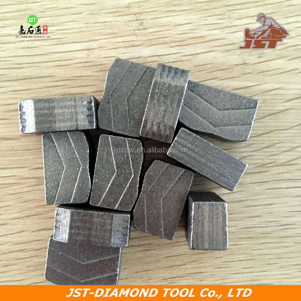 JST China manufacturer supply V shape diamond segments for granite cutting