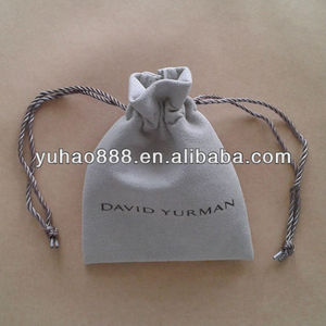 Suede Jewelry Pouches With Logo