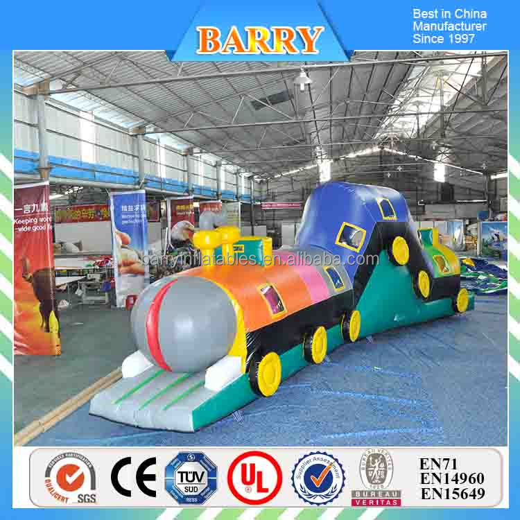 Inflatable Thomas train tunnel, outdoor inflatable games obsatcle course for kids