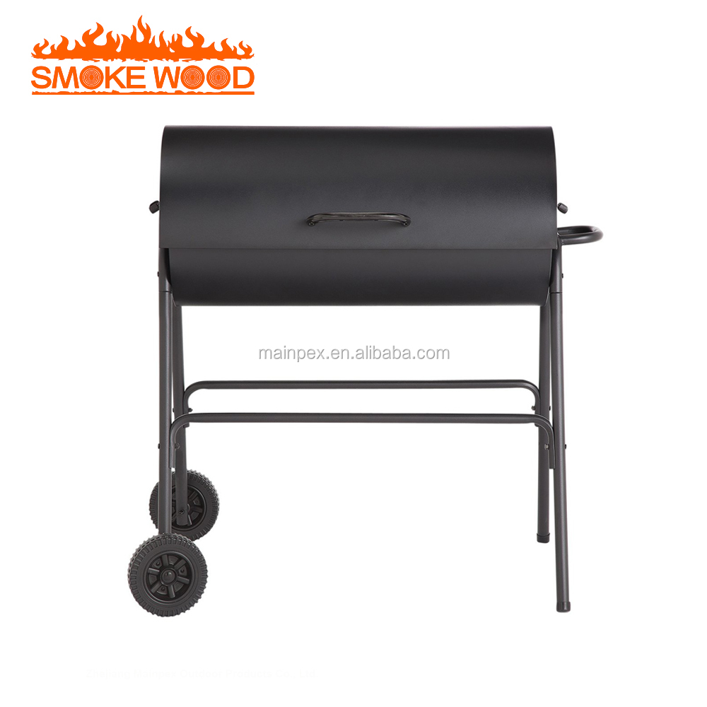Outdoor Charcoal Oil Drum BBQ Adjustable Grill
