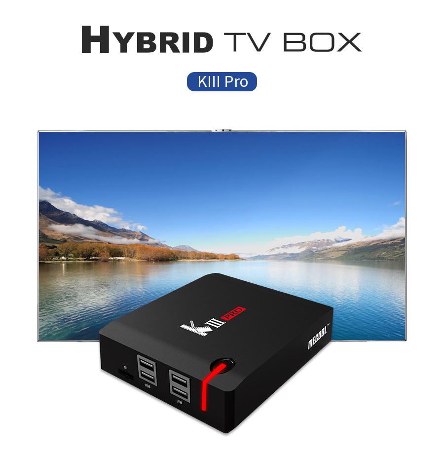 Android 7.1 TV Box MECOOL KIII PRO 3GB 16GB DVB-S2 DVB-T2 DVB-C Amlogic S912 Octa Core 4K Combo CCCAM NEWCAMD Support