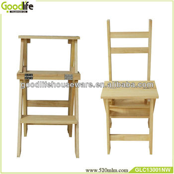 Fantastic Chinese Dual Use Wooden Folding Chair Ladder Buy Folding Chair Wood Fold Up Chair Product On Alibaba Com Theyellowbook Wood Chair Design Ideas Theyellowbookinfo