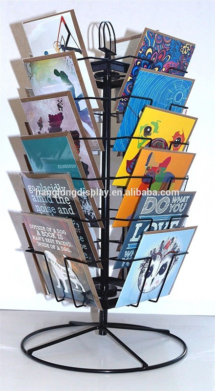 turntable greeting card display stands