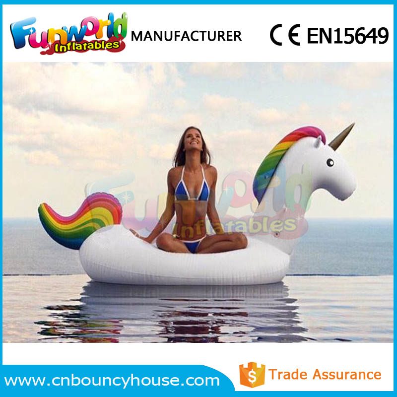 Inflatable island rafts giant inflatable unicorn pool float