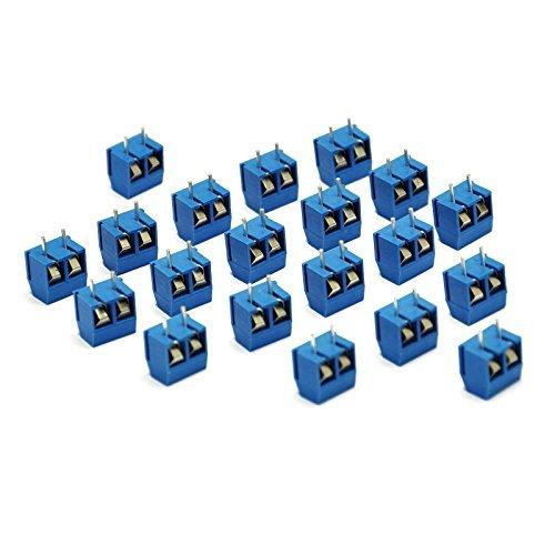 Gikfun 5.08-301-2P 2 Pin Screw Terminal Block Connector 5mm Pitch for Arduino (Pack of 20pcs) EK1601