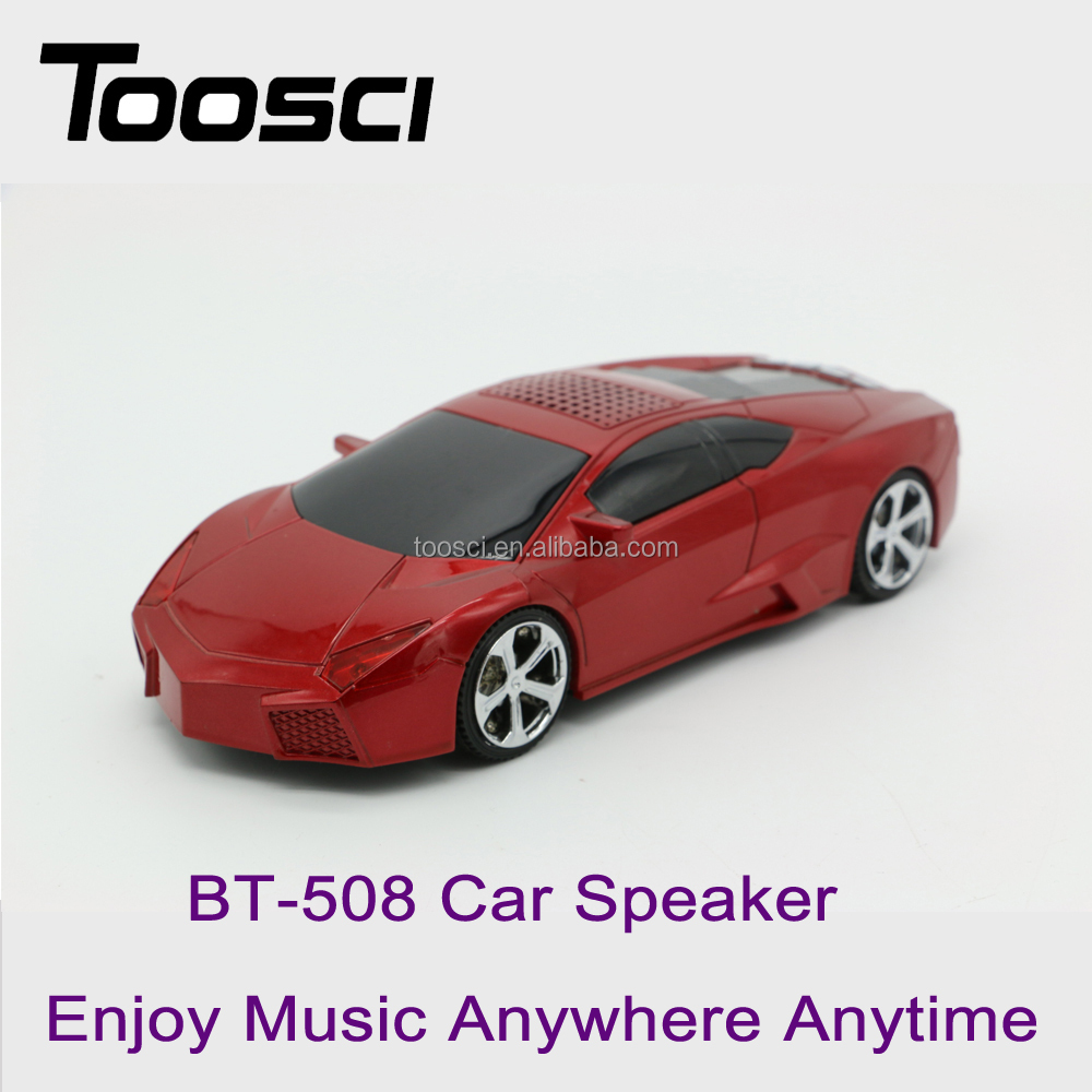 Cool BT-508 car shaped enjoy music anytime anywhere speaker support Bluetooth/AUX/FM mode