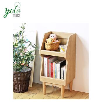 Modern Design Bamboo Bookshelf Wooden Flower Rack