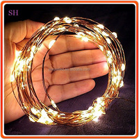 12v 10m 100 lights Waterproof lamps,warm white led Christmas lights, copper wire Christmas lights led
