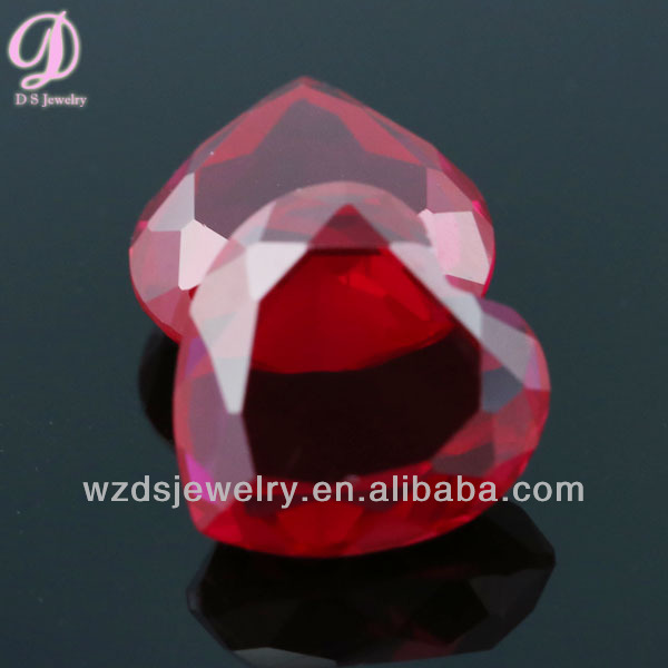 Dould face 5# heart ruby price per carat wholesale synthetic gems