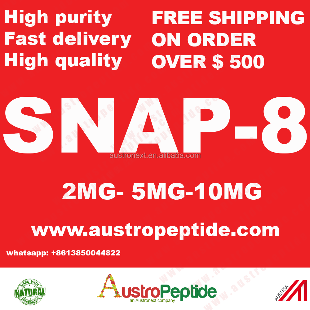 Anti-rides peptide, anti-vieillissement peptide Snap-8 10 mg, acétyl Octapeptide-8 snap-8 50 mg