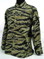 BDU field training uniform suits, CS war game uniform, tiger stripes camouflage military uniform