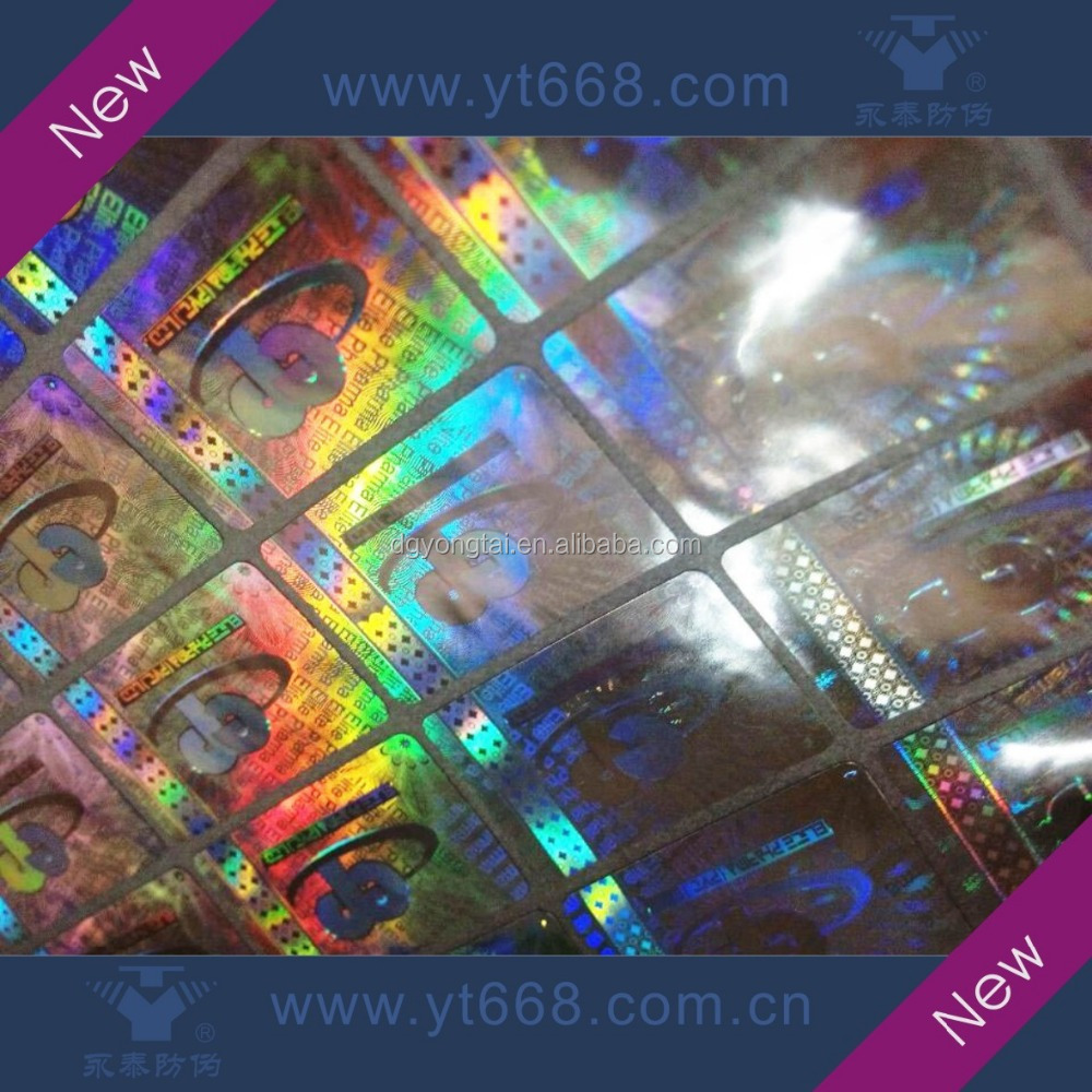 custom 2d 3d laser holographic label embossed original hologram sticker