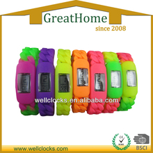 New style!Colorful Silicone Special band wrist watch