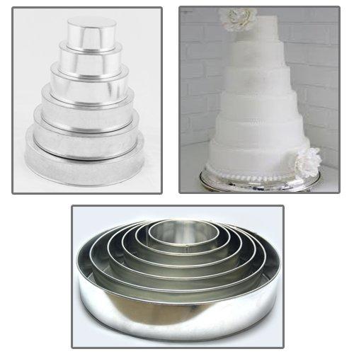 1 X 6 Tier Round Multilayer Wedding Birthday Anniversary Cake Baking Pans - Cake Tins
