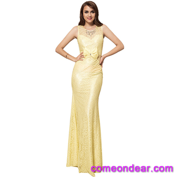 Plus Size In Stock Odm Accept Summer Sexy Yellow Tight Dress Buy