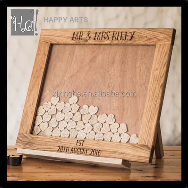 Wedding Heart Drop Top Guestbook Alternative For Wedding Decoration