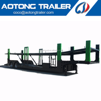 Double Axle Auto Hauler Suv transporting trailer truck size 16Meters Car carriers trailers for sale