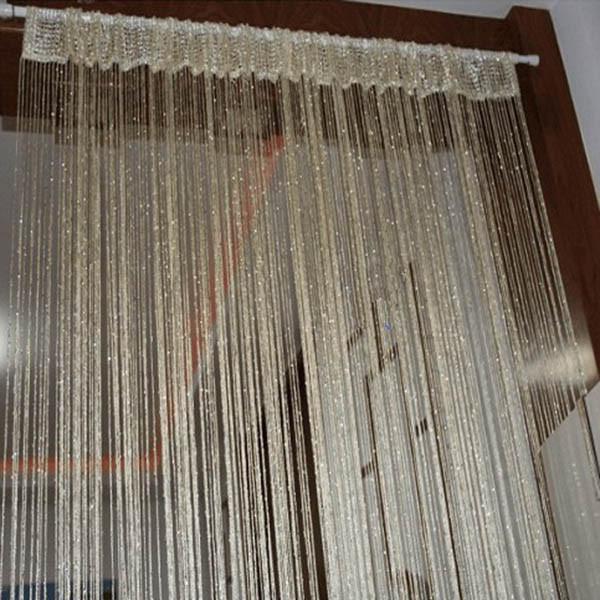 Wholesale Vogue Curtain Silver Silk Tassel String Door Window Living