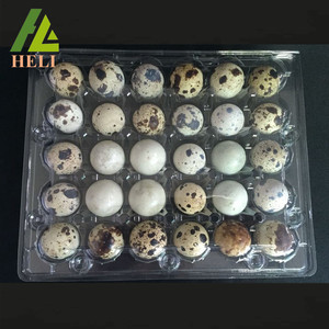 Clear Plastic Quail Eggs Packing Box With 30 Holes