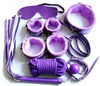 7Pcs Neck Collar Whip Ball Handcuffs Rope Mask / Fur Purple