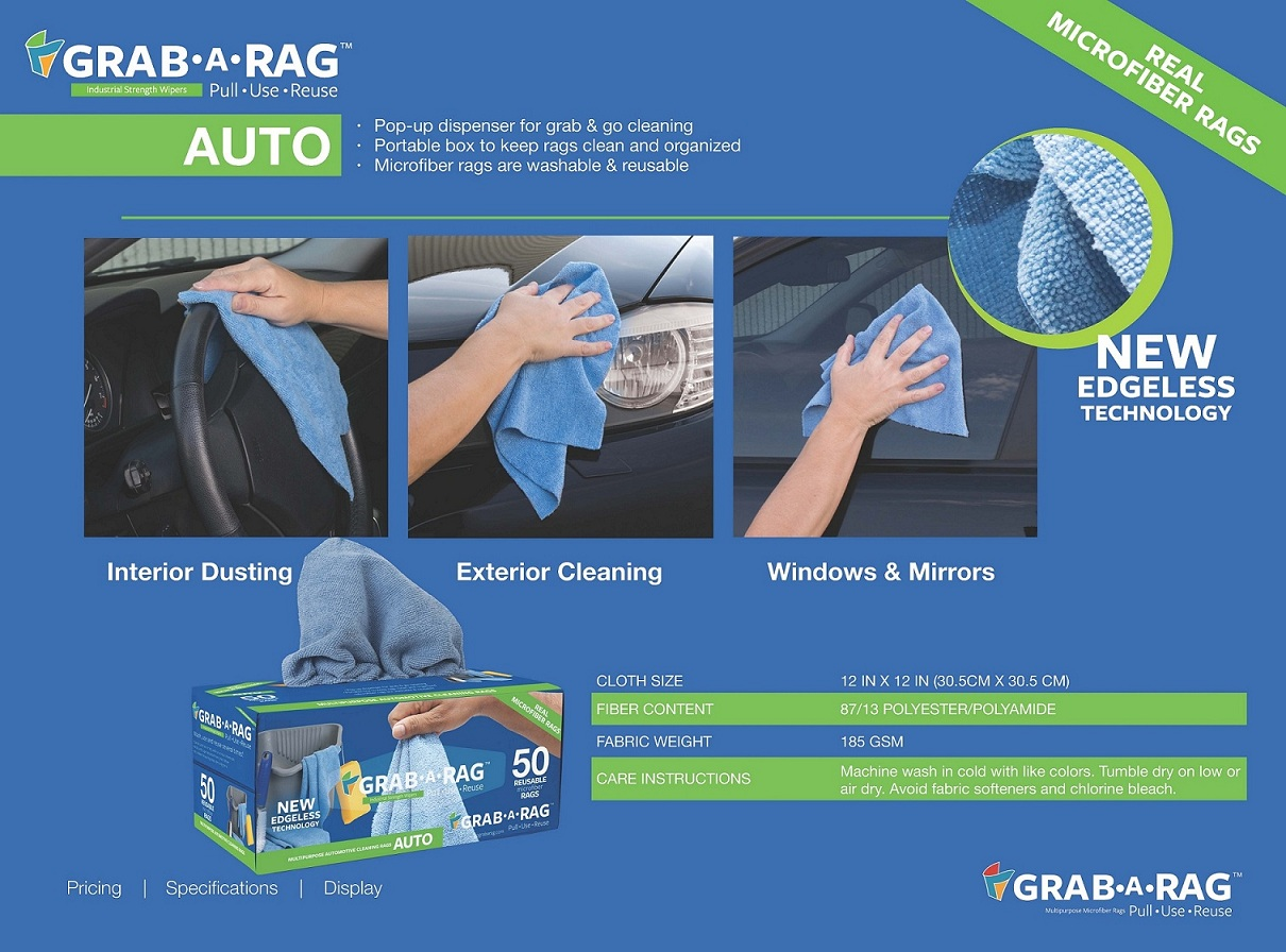 edgeless microfiber cloth 2019 new Cleaning Towel Grab A Rag Walmart Audited 30-40-50 PK Auto Kitchen House Pet Paint Shop Bar