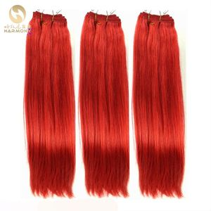 Wholesale top quality red indian remy hair weave with 100% human hair tangle free