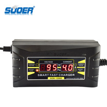 Suoer 6A Smart Portable 12V External Automatic Car Battery Charger With Digital Display