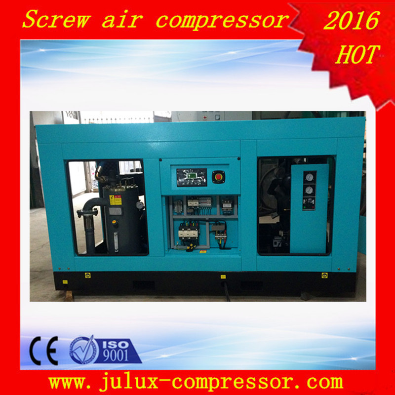 New Design 45kw 60hp Combine With Refrigerated Air dryer Type Screw Air Compressor