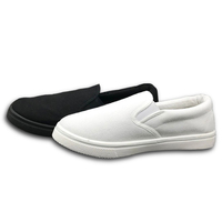 Wholesale Custom Brand Plain White Black Canvas Slip-on Shoes Casual Flats Factory Outlet
