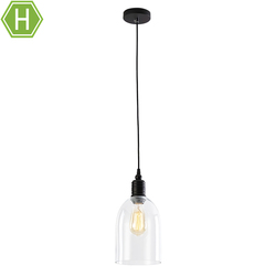 China Supplies Industrial Retro Style Dome Shape Clear Glass LOFT LED Mini Pendant Lighting