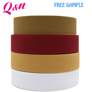 low moq multi colors fabric knitted solid elastic bands for clothes