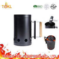 Outdoor Charcoal Fire Starter BBQ Carbon Fire Lighter Folding Rapidfire Barbecue Charcoal Starter bbq Chimney