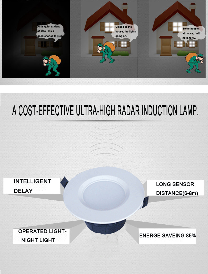 New model recessed round shape CE ROHS approved 10w led downlight