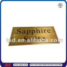 TSD-M641 custom made high quality metal room door embossed number sign plate for hotel or room or house
