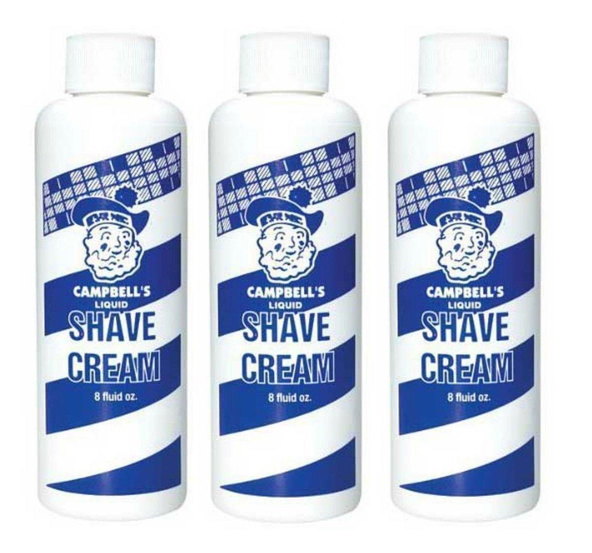 Campbell's Liquid Shave Cream Original Formula 8 oz Set of 3pcs